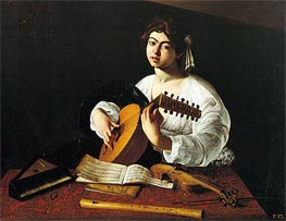 Caravaggio | Lute Player, c.1600 | Giclée Canvas Print