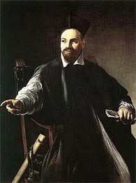 Caravaggio | Portrait of Monsignor Maffeo Barberini, 1603 | Giclée Canvas Print