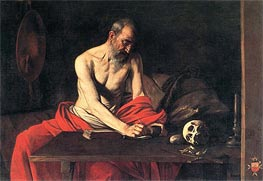 Caravaggio | Saint Jerome Writing, c.1607 | Giclée Canvas Print