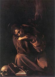 Caravaggio | Saint Francis in Prayer, c.1608 | Giclée Canvas Print