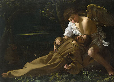 Saint Francis of Assisi in Ecstasy, c.1594/95 | Caravaggio | Painting Reproduction