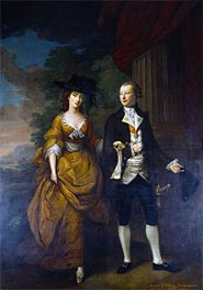 Nathaniel Hone | 1st Lord Scarsdale and His Wide, Lady Caroline Colyear, 1761 | Giclée Canvas Print