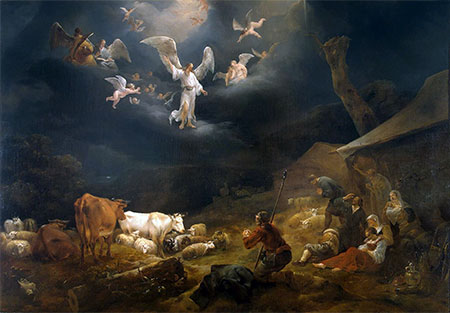 The Annunciation to the Shepherds, 1649 | Nicolaes Berchem | Painting Reproduction
