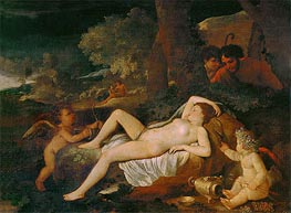 Reclining Venus with Cupid, undated by Nicolas Poussin   Giclée Canvas Print