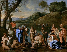St. John Baptising the People, c.1636/37 by Nicolas Poussin | Giclée Canvas Print