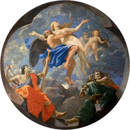 Nicolas Poussin   Truth Stolen Away by Time Beyond the Reach of Envy and Discord, 1641 by   Giclée Canvas Print