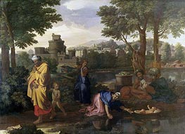 Nicolas Poussin | The Exposition of Moses (Moses Set Adrift on the Waters) | Giclée Canvas Print