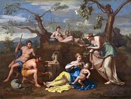 Nicolas Poussin | Nymphs Feeding the Child Jupiter | Giclée Canvas Print