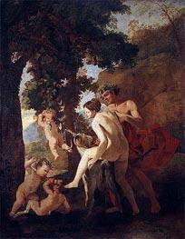 Venus, Faun and Putti, c.1630/33 by Nicolas Poussin | Giclée Canvas Print