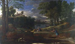 Nicolas Poussin | Landscape with a Man killed by a Snake, c.1648 | Giclée Canvas Print
