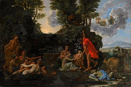 Nicolas Poussin | The Infant Bacchus Entrusted to the Nymphs of Nysa, 1657 | Giclée Canvas Print