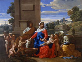 Nicolas Poussin | The Holy Family with the Infant Saint John the Baptist and Saint Elizabeth, c.1650/51 | Giclée Canvas Print