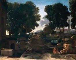 Nicolas Poussin | A Roman Road (Landscape with Travelers Resting), 1648 | Giclée Canvas Print