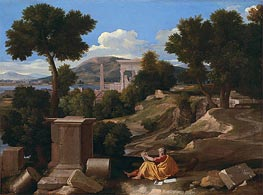 Nicolas Poussin | Landscape with Saint John on Patmos, 1640 | Giclée Canvas Print