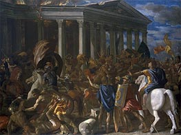 Nicolas Poussin | The Destruction and Sack of the Temple of Jerusalem, c.1625/26 | Giclée Canvas Print
