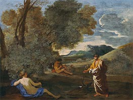 Nicolas Poussin | Numa Pompilius and the Nymph Egeria, c.1631/33 | Giclée Canvas Print
