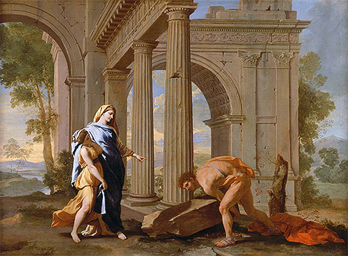 Theseus Finds the Sword of His Father, c.1638 | Nicolas Poussin | Painting Reproduction