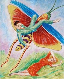 Nils von Dardel | The Grasshopper, 1931 | Giclée Canvas Print