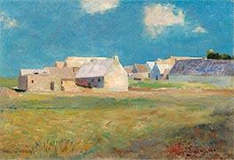 Breton Village, c.1890 by Odilon Redon | Giclée Canvas Print