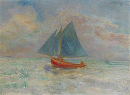 Red Boat with Blue Sail, c.1910 by Odilon Redon | Giclée Canvas Print