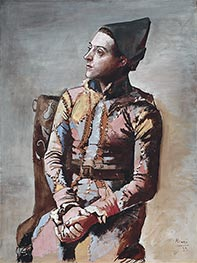 Picasso | Seated Harlequin, 1923 | Giclée Canvas Print