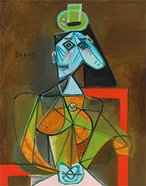 Woman in an Armchair (Dora Maar), 1942 by Picasso | Giclée Canvas Print