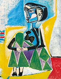 Crouching Woman (Jacqueline), 1954 by Picasso | Giclée Canvas Print