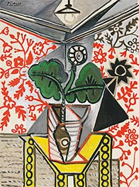 Interior with Flowerpot, 1953 by Picasso | Giclée Canvas Print