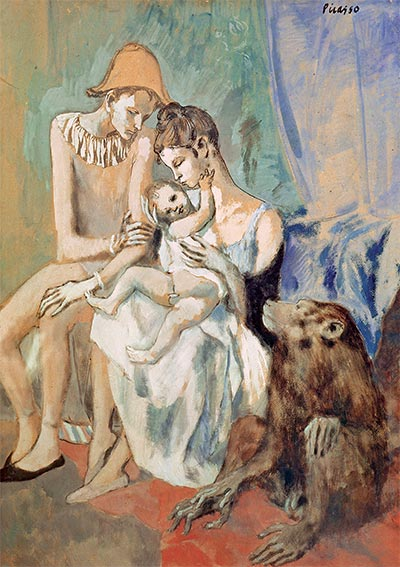 Family of Acrobats with a Monkey, 1905 | Picasso | Painting Reproduction