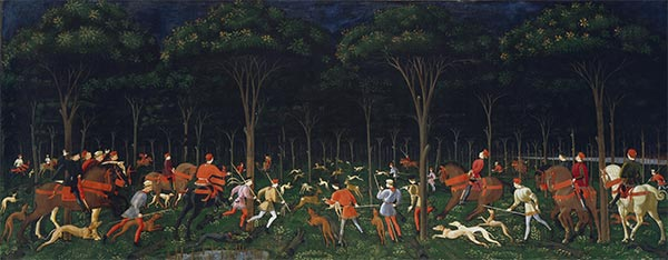 The Hunt in the Forest, a.1470s | Paolo Uccello | Painting Reproduction