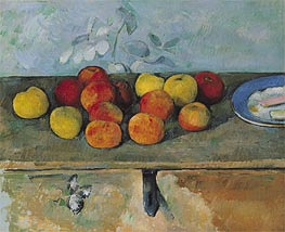 Cezanne | Apples and Biscuits, c.1879/82 by | Giclée Canvas Print