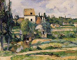 Cezanne | Mill on the Couleuvre at Pontoise, 1881 by | Giclée Canvas Print