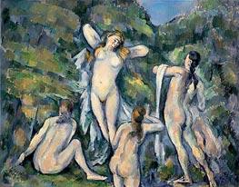 Cezanne | Four Bathers, c.1888/90 by | Giclée Canvas Print