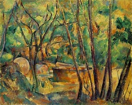 Cezanne | Well, Millstone and Cistern Under Trees | Giclée Canvas Print