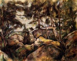 Cezanne | Rocks at Fountainebleau | Giclée Canvas Print