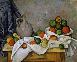 Cezanne | Curtain, Jug and Fruit Bowl | Giclée Canvas Print