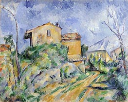 Cezanne | Maison Maria with a View of Chateau Noir | Giclée Canvas Print