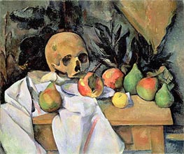 Cezanne | Still Life with Skull | Giclée Canvas Print