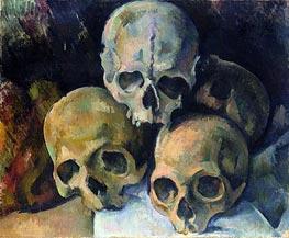 Cezanne   Pyramid of Skulls   Giclée Canvas Print