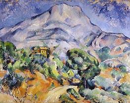Cezanne   Road near Mont Sainte-Victoire   Giclée Canvas Print