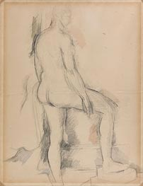 Cezanne | Study of a Nude Figure | Giclée Canvas Print