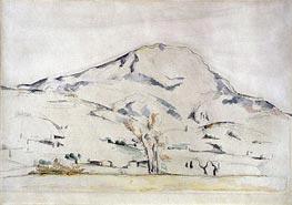 Cezanne | View of Mont Sainte Victoire - Study of a Tree, c.1885/87 | Giclée Paper Print