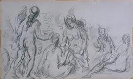 Cezanne | Five Female Bathers, c.1885/90 | Giclée Paper Print