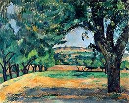 The Neighborhood of Jas de Bouffan, c.1885/87 by Cezanne   Giclée Canvas Print