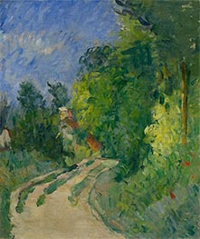 Bend in the Road through the Forest, c.1873/75 by Cezanne   Giclée Canvas Print