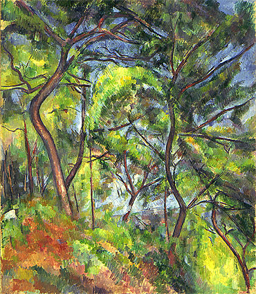 Forest Sous-Bois, c.1894 | Cezanne | Painting Reproduction
