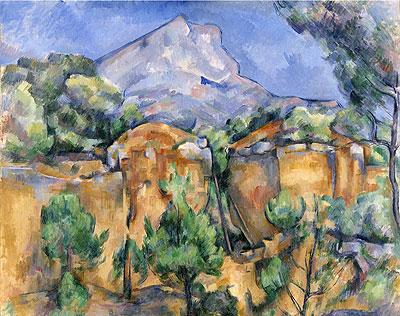Mont Sainte-Victoire Seen from the Bibemus Quarry, c.1897   Cezanne   Painting Reproduction