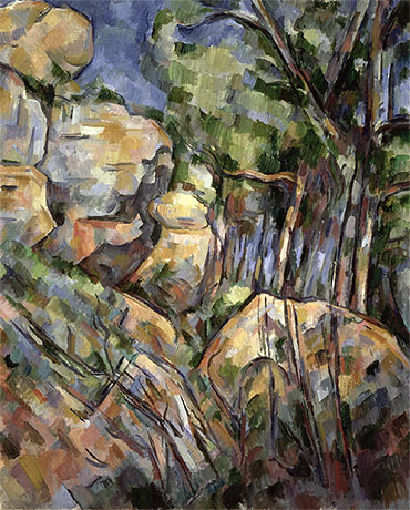 Rocks near the Caves below the Chateau Noir, c.1904 | Cezanne | Painting Reproduction