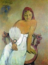 Gauguin | Girl with a Fan | Giclée Canvas Print