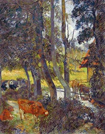 Gauguin | Landscape in Normandy with Pond | Giclée Canvas Print